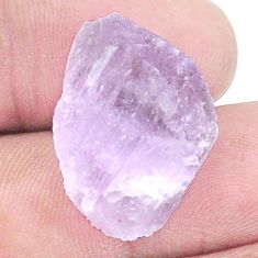 Natural 25.10cts kunzite rough pink rough 24x17 mm fancy loose gemstone s8966