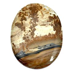 Natural 41.30cts cotham landscape marble brown 41x30mm oval loose gemstone s8987