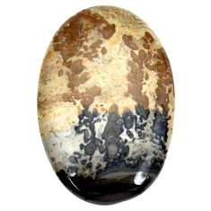 Natural 36.30cts cotham landscape marble brown 39x25mm oval loose gemstone s8988