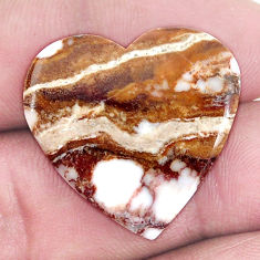 Natural 22.40cts wild horse magnesite bronze 25x25 mm heart loose gemstone s9017