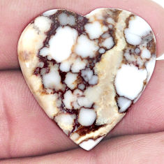 Natural 34.15cts wild horse magnesite bronze 28x27 mm heart loose gemstone s9018