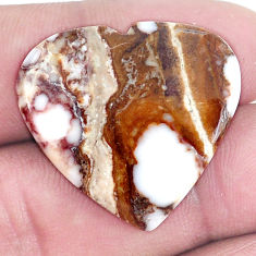Natural 22.35cts wild horse magnesite bronze 25x27 mm heart loose gemstone s9020