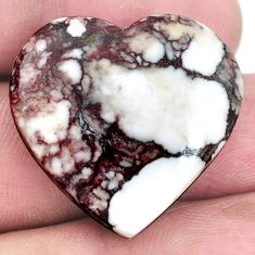 Natural 30.10cts wild horse magnesite bronze 25x26 mm heart loose gemstone s9035