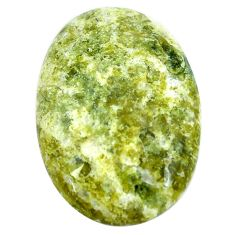 23.45cts lizardite (meditation stone) yellow 30x21 mm oval loose gemstone s9065