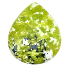 Natural 50.10cts lizardite (meditation stone) 40x31 mm pear loose gemstone s9080