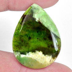 Natural 16.30cts chrome chalcedony 28x21 mm pear loose gemstone s9089