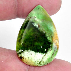 Natural 18.45cts chrome chalcedony 32x22 mm pear loose gemstone s9120