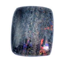 Natural 13.45cts honduran matrix opal black 20x16mm octagan loose gemstone s9194