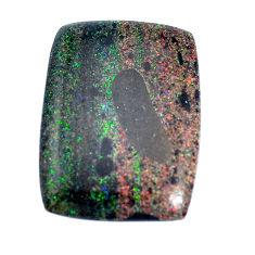 Natural 13.45cts honduran matrix opal black 25x19mm octagan loose gemstone s9196
