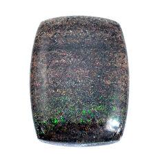 Natural 16.30cts honduran matrix opal black 22x16.5mm loose gemstone s9198