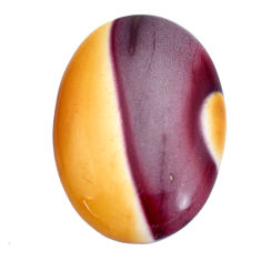 Natural 33.45cts mookaite brown cabochon 33.5x23.5 mm oval loose gemstone s9287