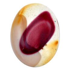 Natural 19.45cts mookaite brown cabochon 26x18.5 mm oval loose gemstone s9288