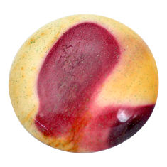 Natural 33.45cts mookaite brown cabochon 29x29 mm round loose gemstone s9289