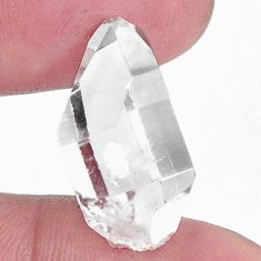Natural 17.40cts herkimer diamond white rough 21x12mm fancy loose gemstone s9357