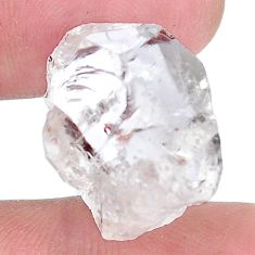 Natural 23.15cts herkimer diamond white rough 19x12mm fancy loose gemstone s9375