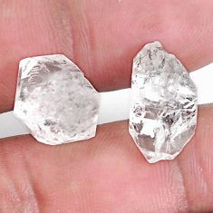 Natural 19.45cts herkimer diamond white rough 14x13 mm loose gemstone s9389