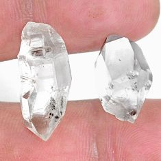 Natural 21.30cts herkimer diamond white rough 21x10 mm loose gemstone s9394