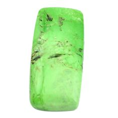 Natural 33.45cts gaspeite green cabochon 27x13 mm octagan loose gemstone s9506