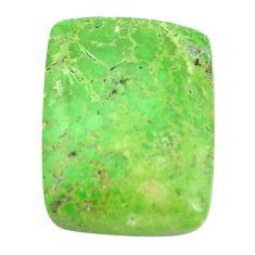 Natural 19.45cts gaspeite green cabochon 22x16.5 mm octagan loose gemstone s9511