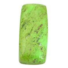 Natural 21.30cts gaspeite green cabochon 27x12 mm octagan loose gemstone s9512