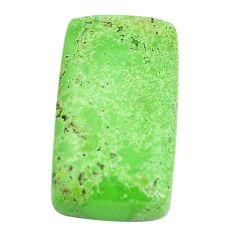 Natural 20.10cts gaspeite green cabochon 23x13 mm octagan loose gemstone s9514