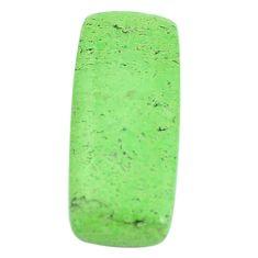 Natural 12.35cts gaspeite green cabochon 25x11 mm octagan loose gemstone s9515