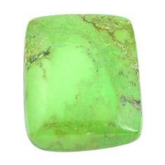 Natural 22.10cts gaspeite green cabochon 20x16 mm octagan loose gemstone s9517
