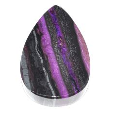 Natural 51.25cts sugilite purple cabochon 32x21 mm pear loose gemstone s9572