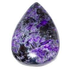 Natural 28.45cts sugilite purple cabochon 27.5x19 mm pear loose gemstone s9582