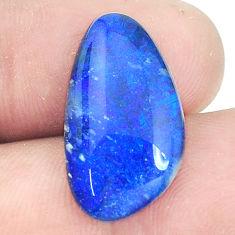 Natural 8.45cts australian opal triplet cabochon 21x12 mm loose gemstone s9625