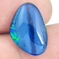 Natural 7.40cts australian opal triplet cabochon 18x12.5 mm loose gemstone s9632