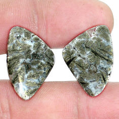 Natural 17.40cts marcasite in quartz white 22.5x15.5 mm loose gemstone s9711