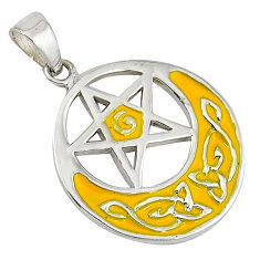 Indonesian bali style solid 925 sterling silver star of david pendant v1708
