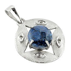 Vintage natural diamond black pietersite (african) 925 silver pendant v1839