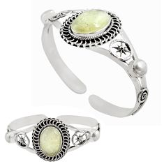 925 silver 20.23cts natural libyan desert glass adjustable bangle jewelry p82648
