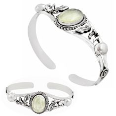 925 silver 14.48cts natural libyan desert glass adjustable bangle jewelry p82652