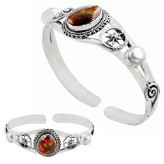 925 silver natural multi color mexican fire agate adjustable bangle p82680