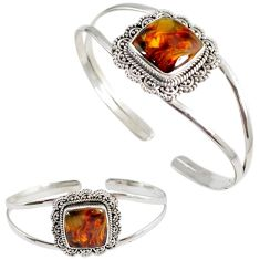925 sterling silver natural brown pietersite (african) adjustable bangle h89229
