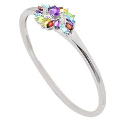 925 sterling silver natural purple amethyst yellow citrine bangle a77620