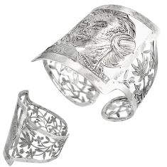 Gemexi exclusive handmade marilyn monroe silver adjustable bangle j44100