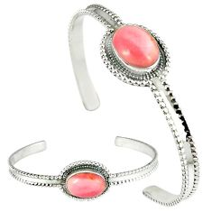 925 sterling silver natural pink opal adjustable bangle jewelry k28288