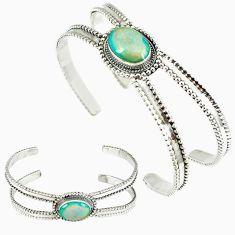 Multi color sterling opal 925 sterling silver adjustable bangle jewelry k28313