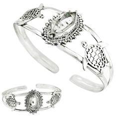 925 silver natural white herkimer diamond fancy adjustable bangle k57078