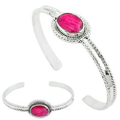 Natural red ruby 925 sterling silver adjustable bangle jewelry k61643