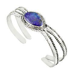 Natural purple sugilite 925 sterling silver adjustable bangle m13029