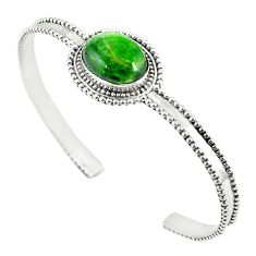 925 silver natural green chrome diopside adjustable bangle jewelry m13035