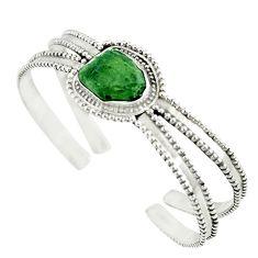 Natural green moldavite (genuine czech) 925 silver adjustable bangle m13038