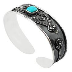 925 silver blue arizona mohave turquoise adjustable bangle jewelry m16467
