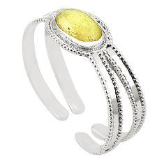 Natural libyan desert glass (gold tektite) 925 silver adjustable bangle m37828