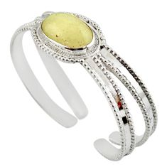 925 silver 17.17cts natural libyan desert glass adjustable bangle jewelry d47219